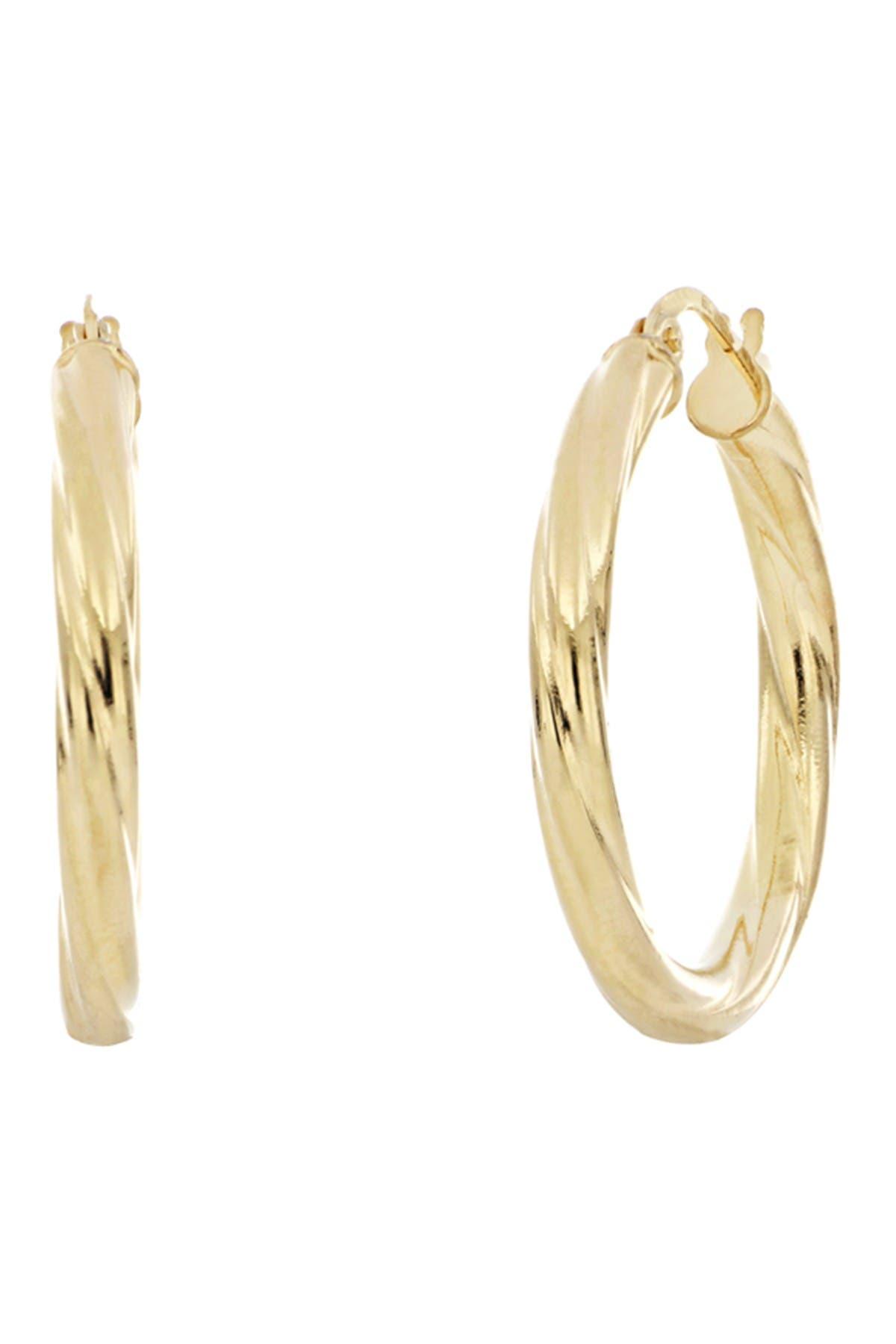 Image of Bony Levy 14K Yellow Gold Polished 26mm Hoop Earrings