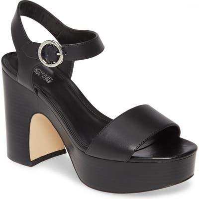Michael Michael Kors Fiona Platform Sandal- Black