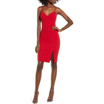 Leith Body-Con Dress, Red