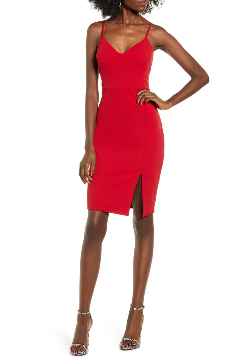 LEITH Body-Con Dress, Main, color, RED CHILI