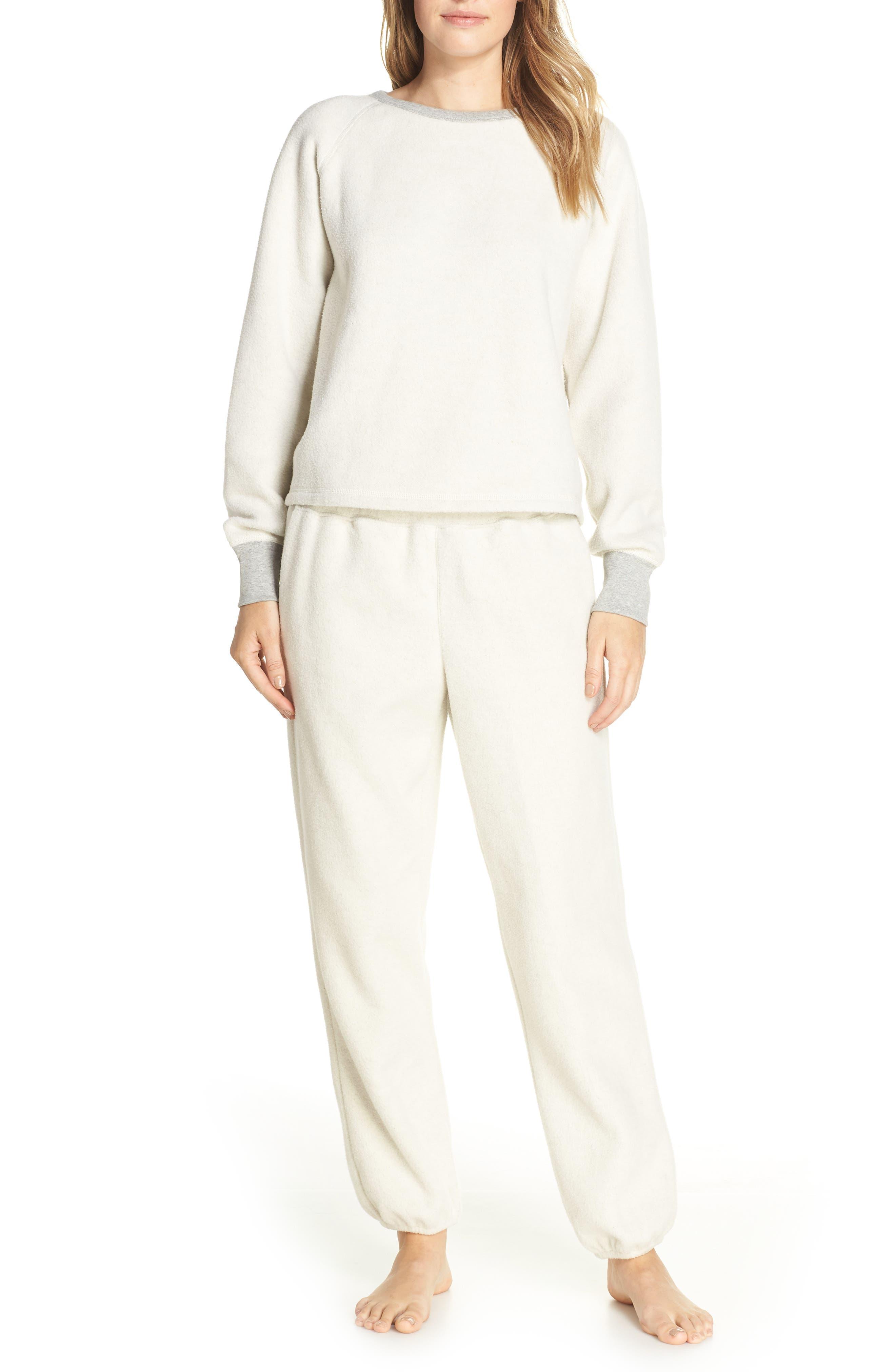 ,                             Fleece Pajama Sweatpants,                             Alternate thumbnail 17, color,                             030