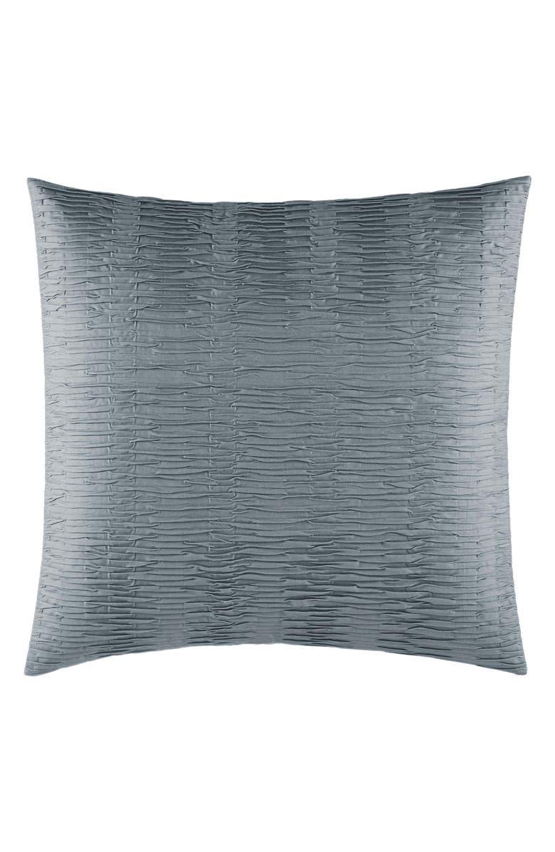 VERA WANG Marble Shibori Textured Pleat Euro Sham, Main, color, DARK SILVER BLUE