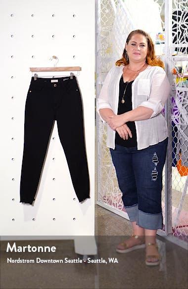 x Marianna Hewitt Instasculpt Farrow High Waist Crop Destroyed Hem Skinny Jeans, sales video thumbnail
