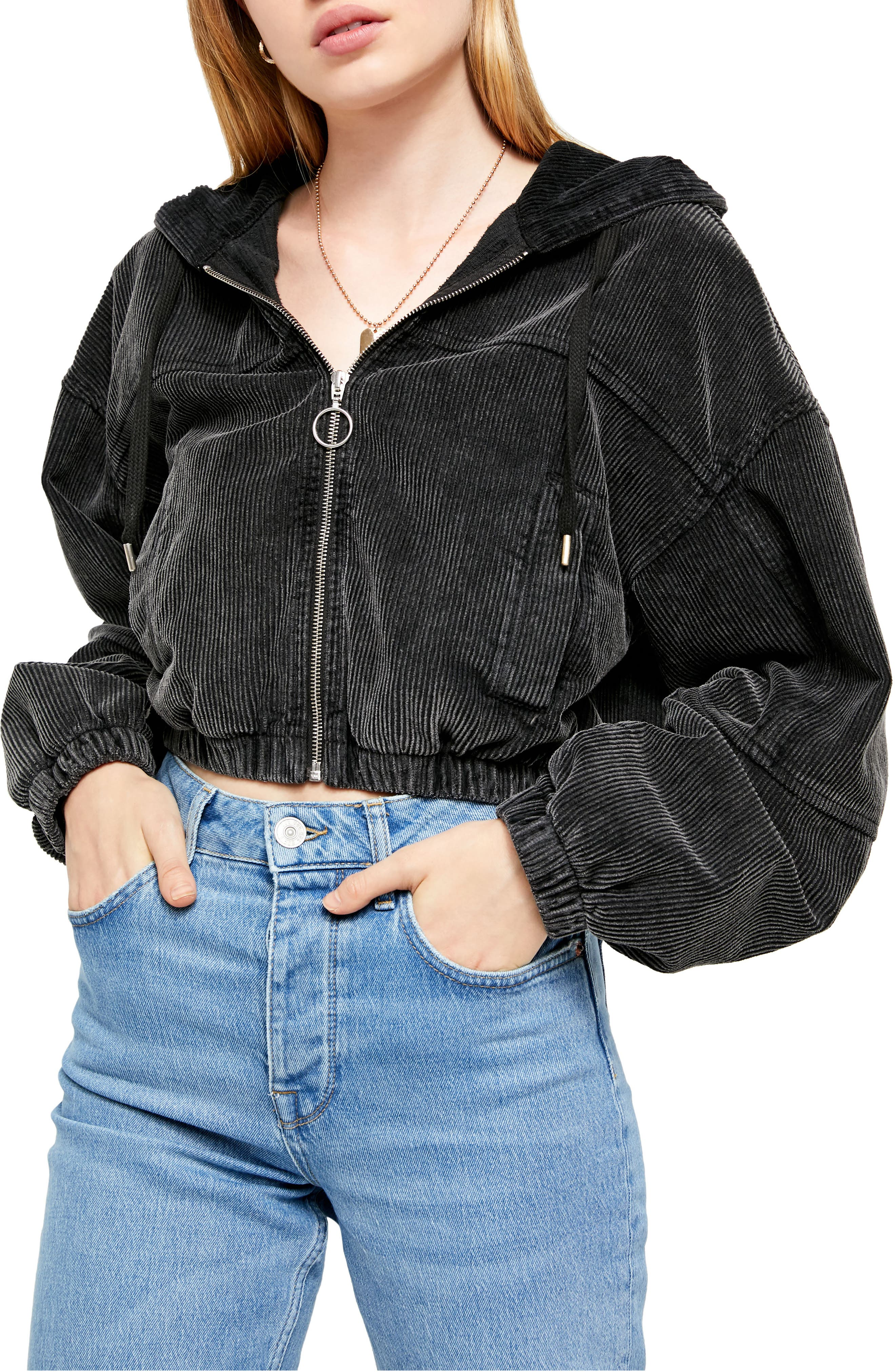 BDG Urban Outfitters Corduroy Crop Hooded Jacket