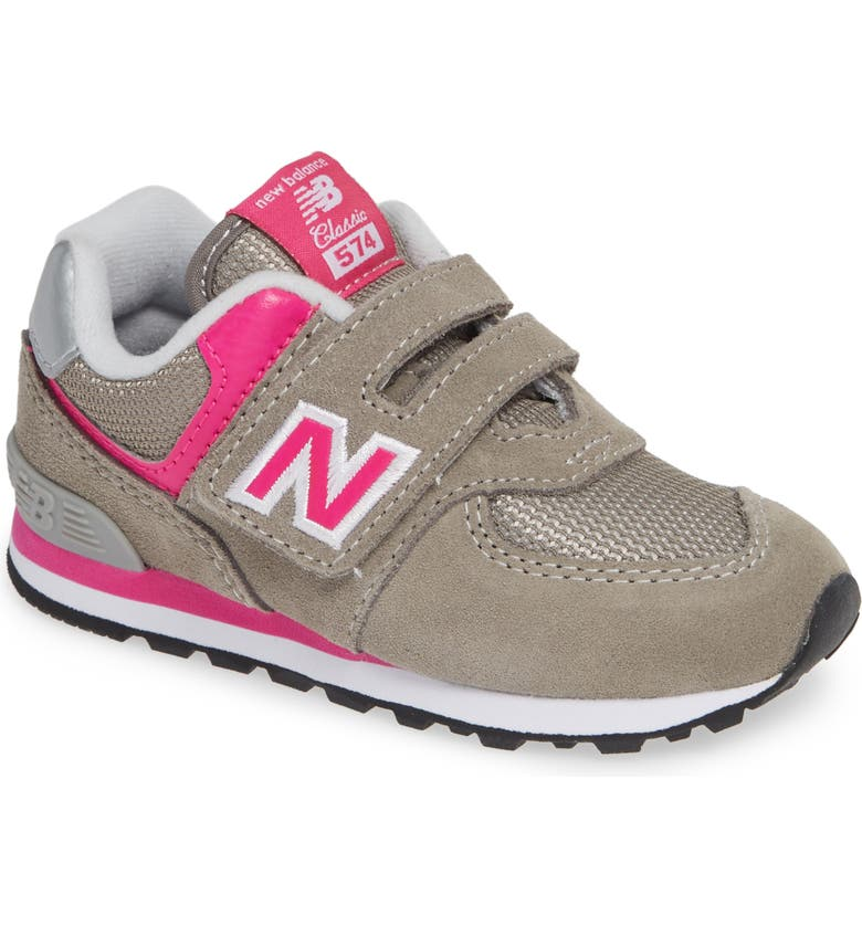 the latest b896d 73f0f  574 Core  Sneaker, Main, color, GREY  PINK
