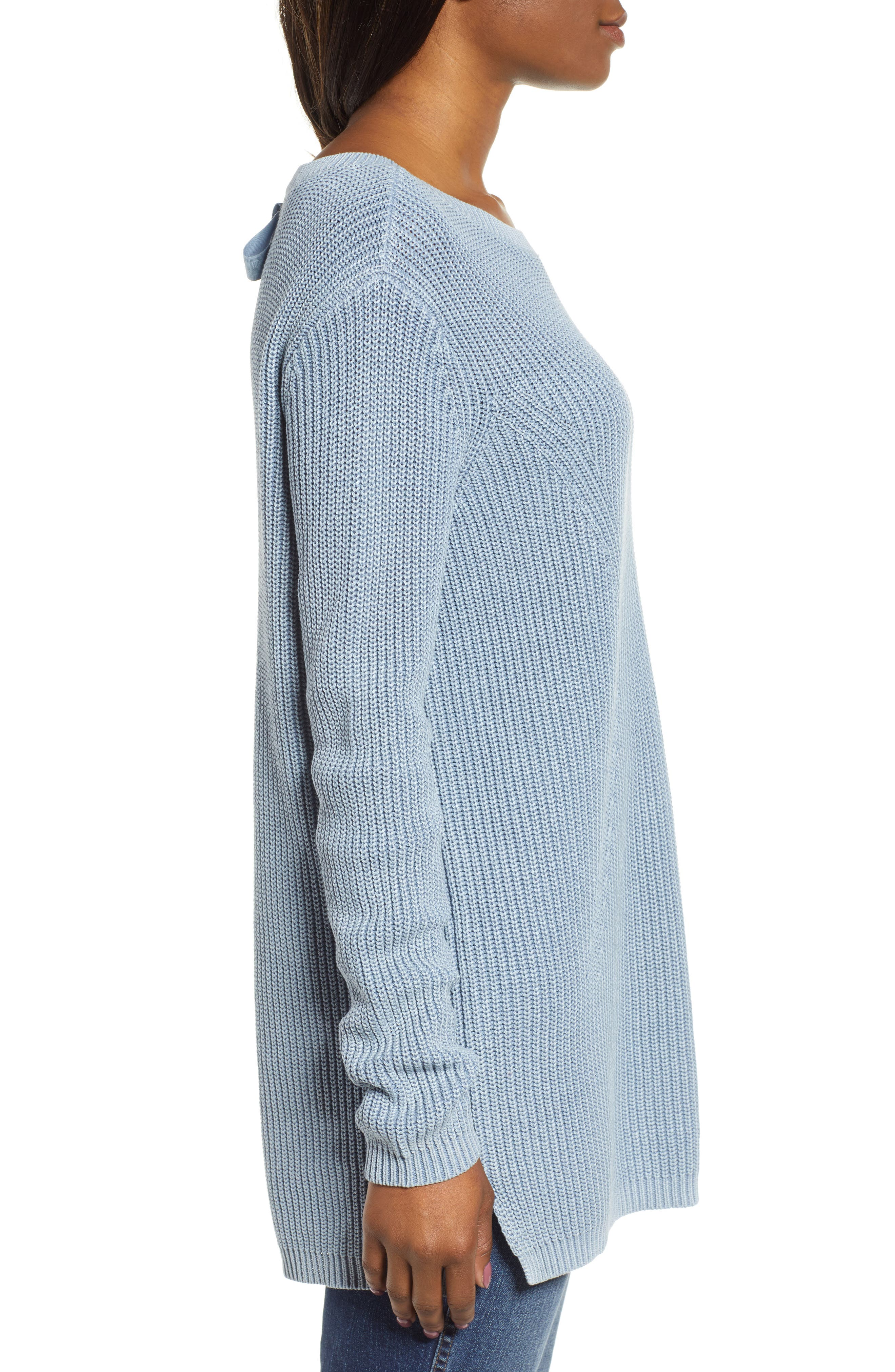 ,                             Tie Back Tunic Sweater,                             Alternate thumbnail 21, color,                             450