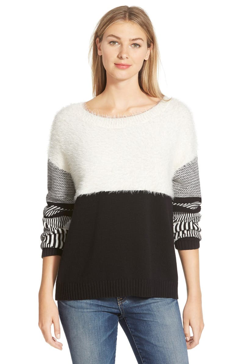 TWO BY VINCE CAMUTO Jacquard Crewneck Sweater, Main, color, 108