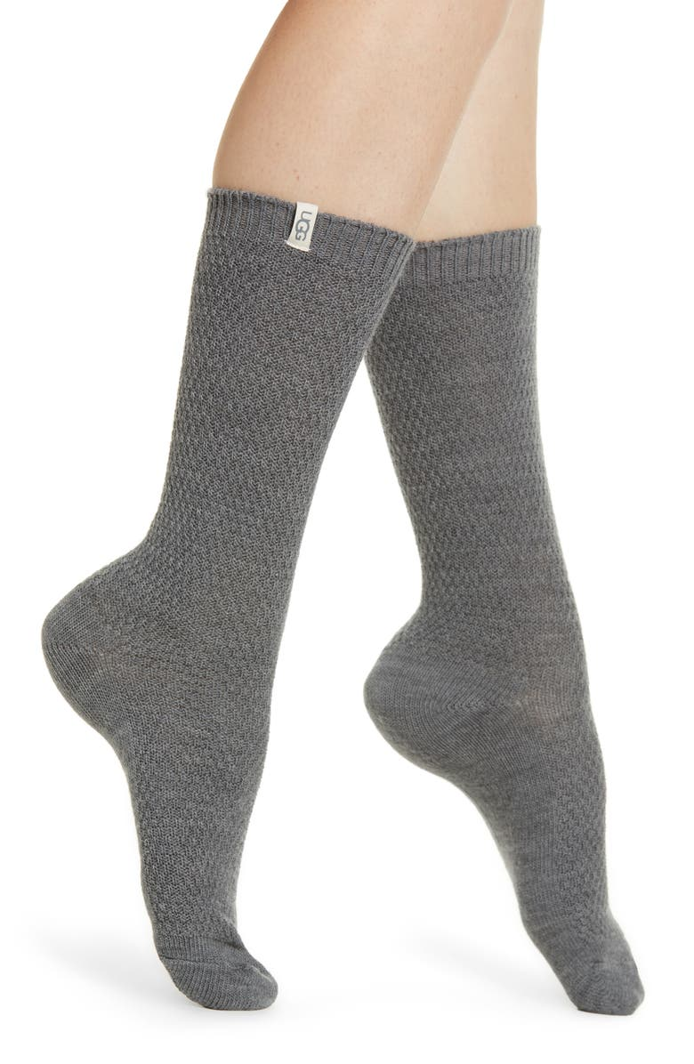 UGG<SUP>®</SUP> Classic Boot Socks, Main, color, GREY HEATHER