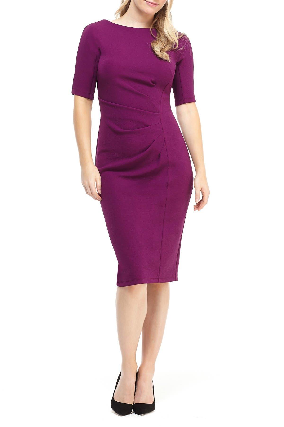 Image of Maggy London Gigi Ruched Midi Dress