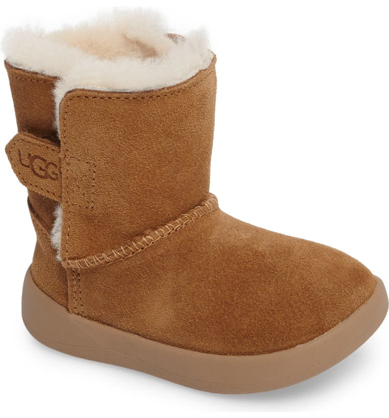 UGG<SUP>®</SUP> Keelan Genuine Shearling Baby Boot, Main, color, CHESTNUT BROWN