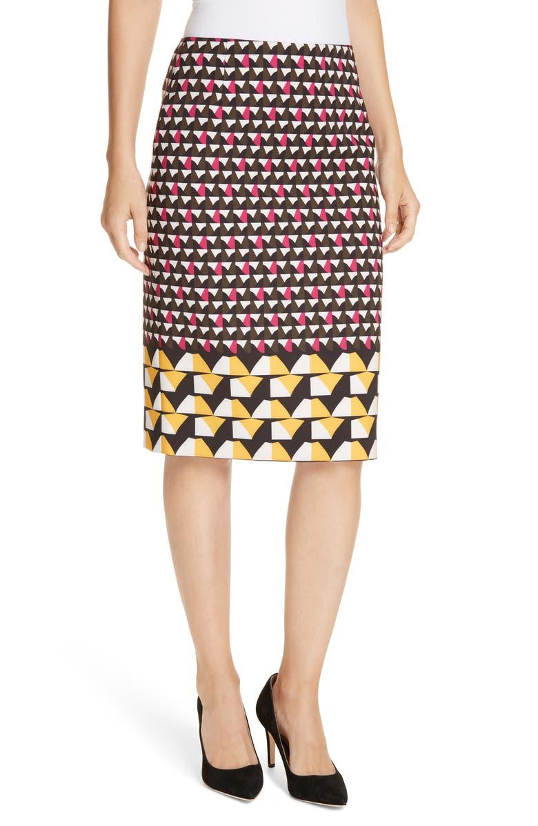 BOSS Vareika Anthracite Mélange Pencil Skirt, Main, color, 650