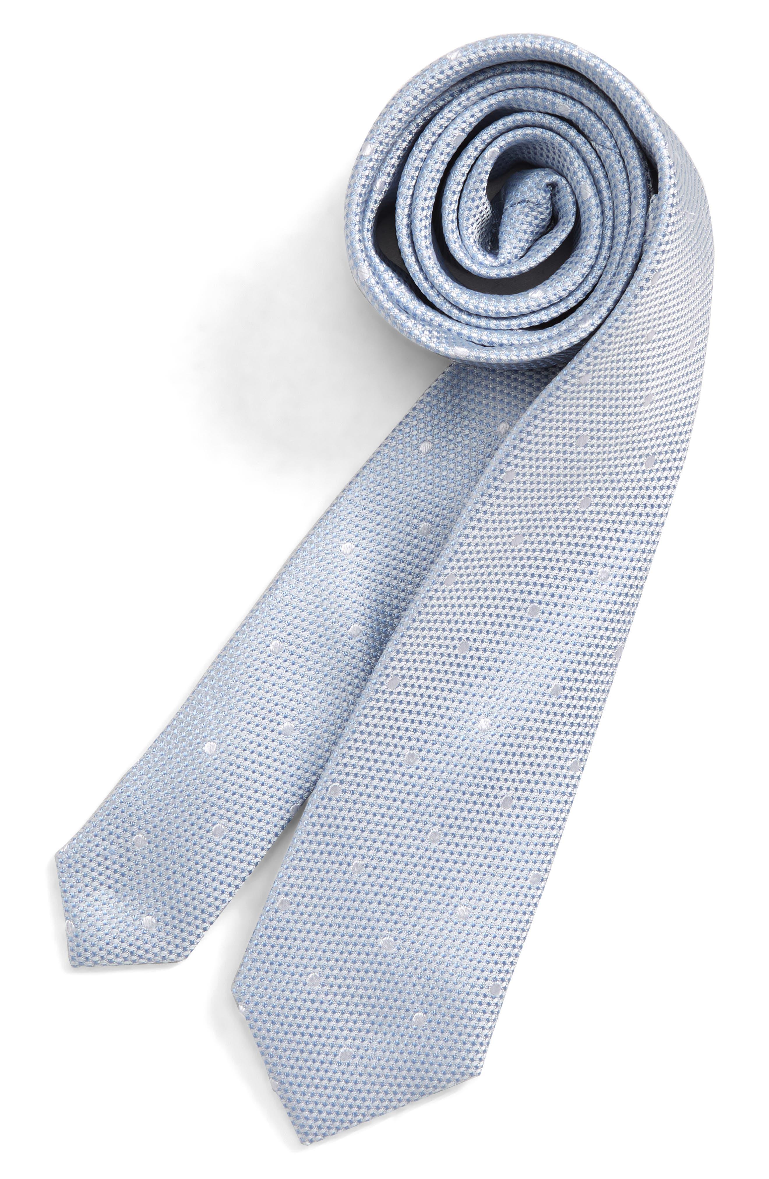 Boys Nordstrom Connor Dot Silk Tie Size Big Boy  Yellow
