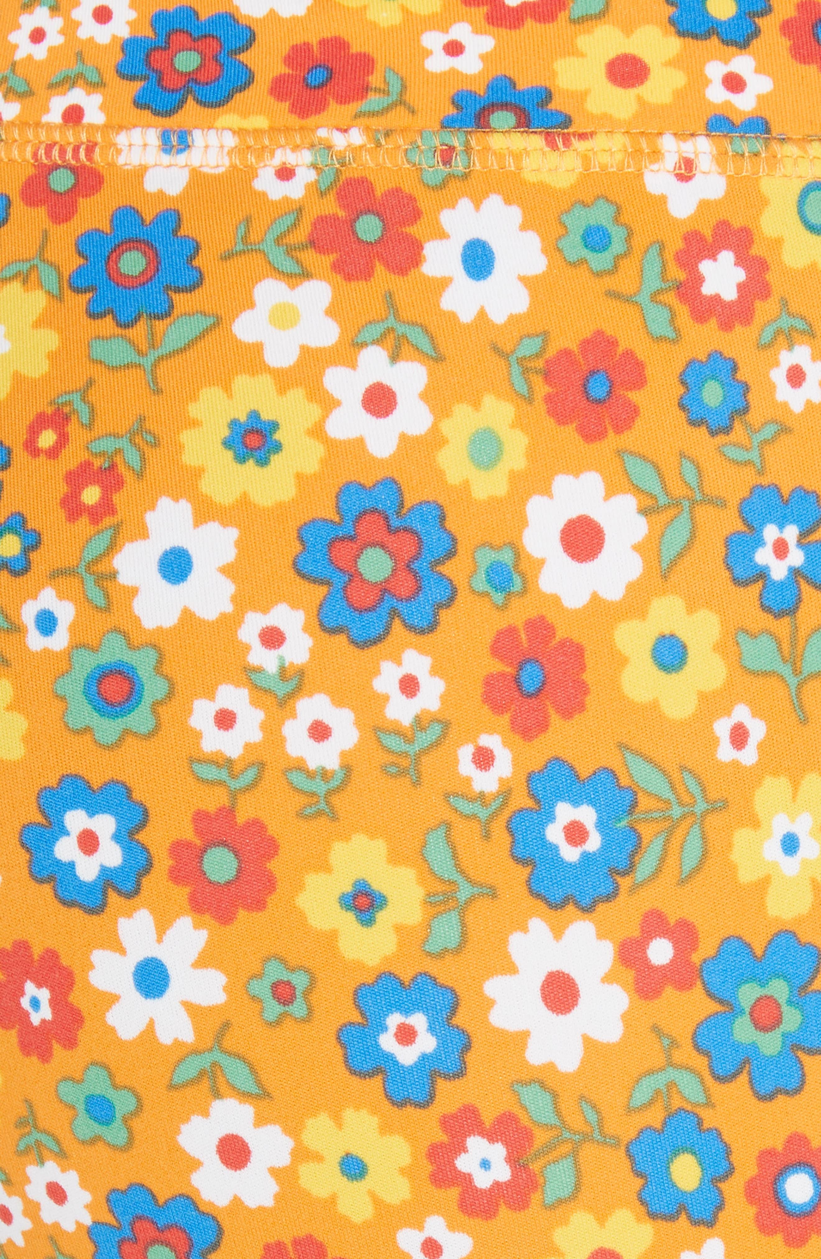 ,                             Floral Print Chevron 7/8 Leggings,                             Alternate thumbnail 6, color,                             RITZY FLORAL VIBRANT ORANGE