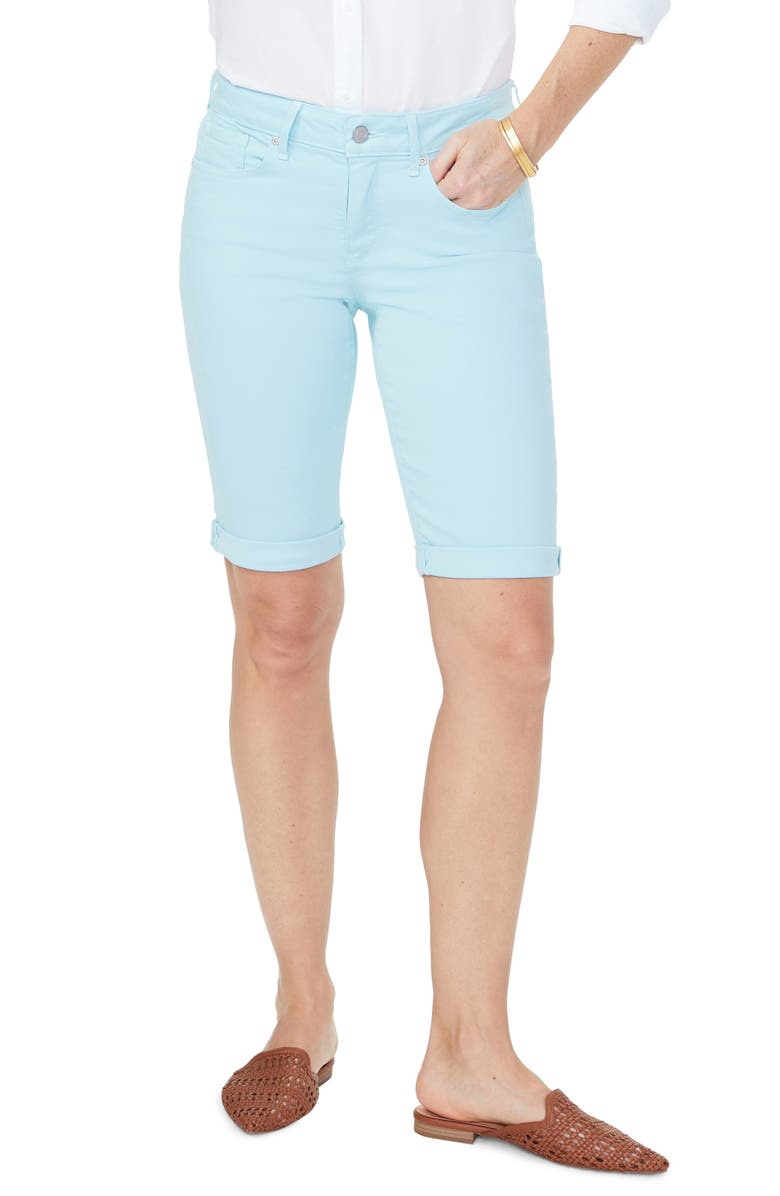 NYDJ Briella Roll Cuff Shorts, Main, color, BLUE GLOW