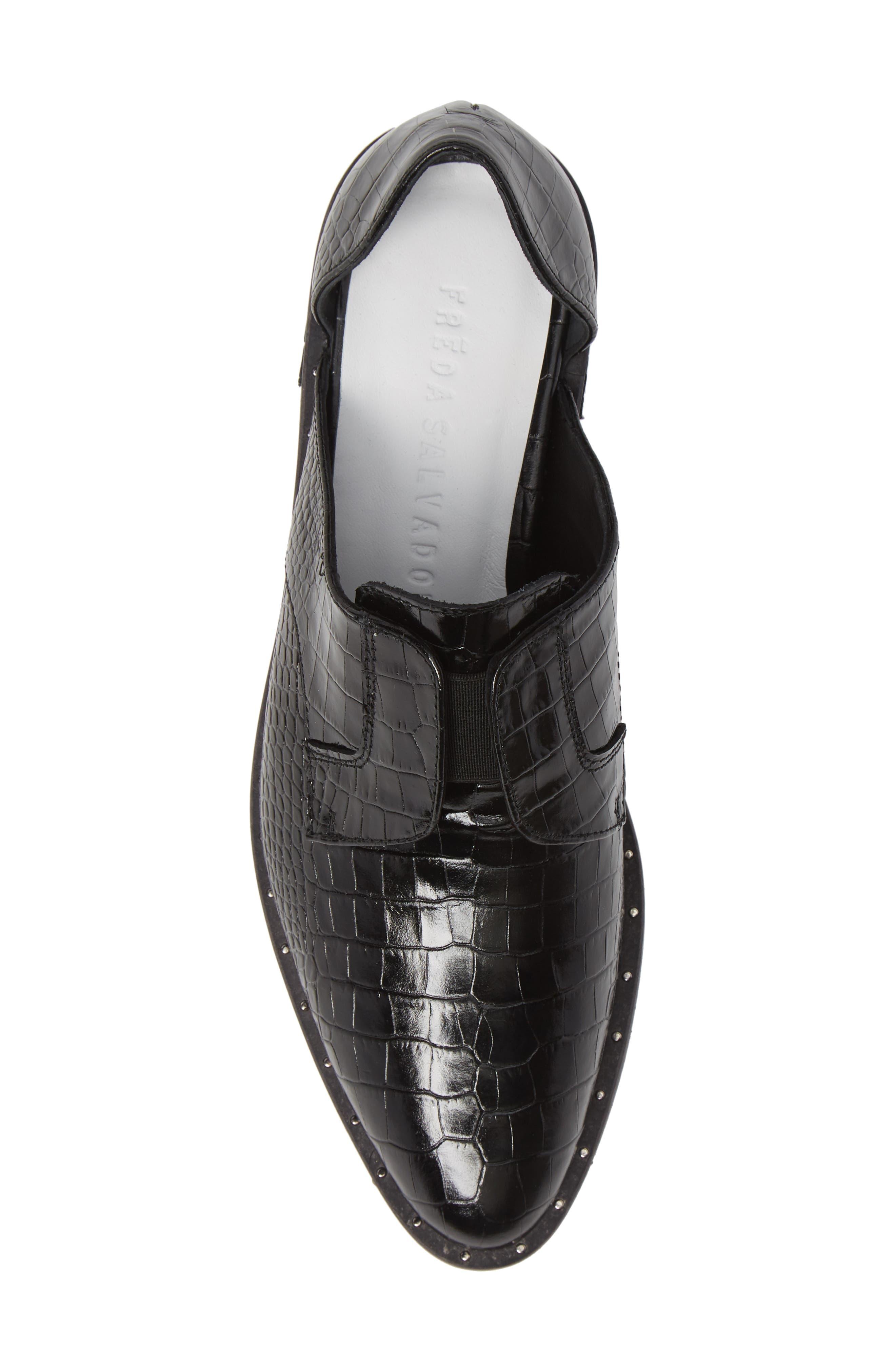 ,                             Wear d'Orsay Laceless Derby,                             Alternate thumbnail 5, color,                             BLACK CROC