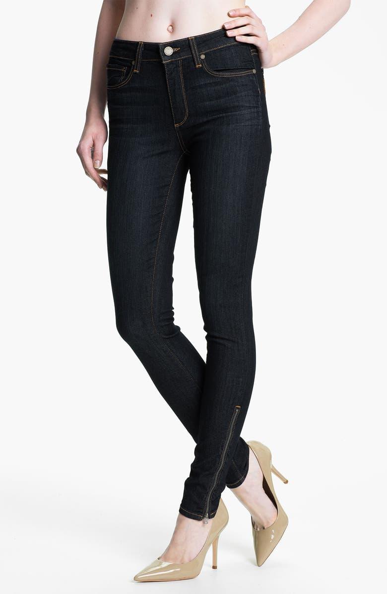 PAIGE Denim 'Hoxton' Ankle Zip Skinny Jeans, Main, color, 400