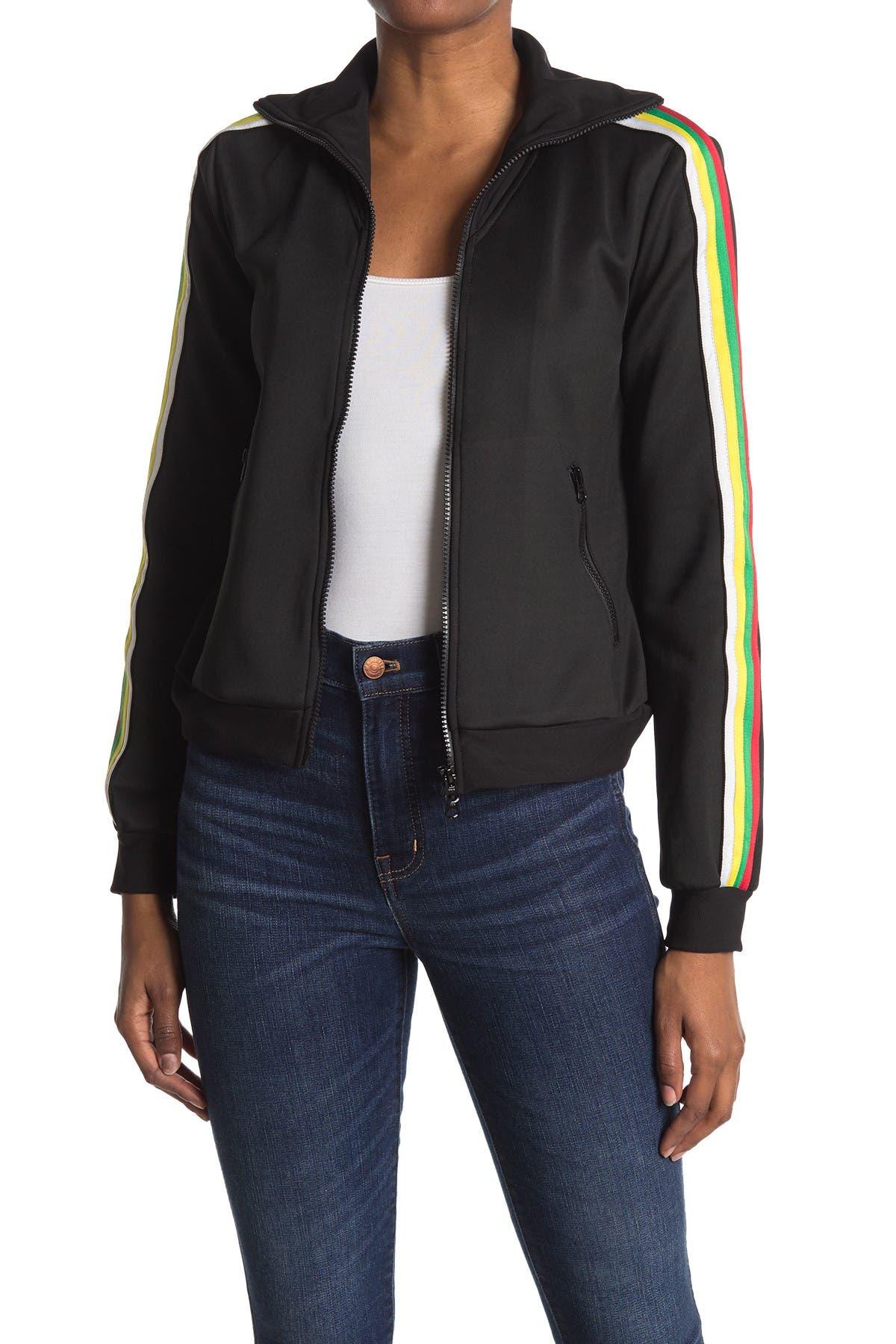 Image of PAM AND GELA Rainbow Track Jacket