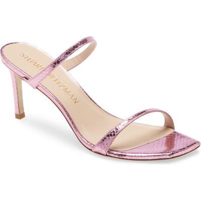 Stuart Weitzman Aleena Slide Sandal, Pink