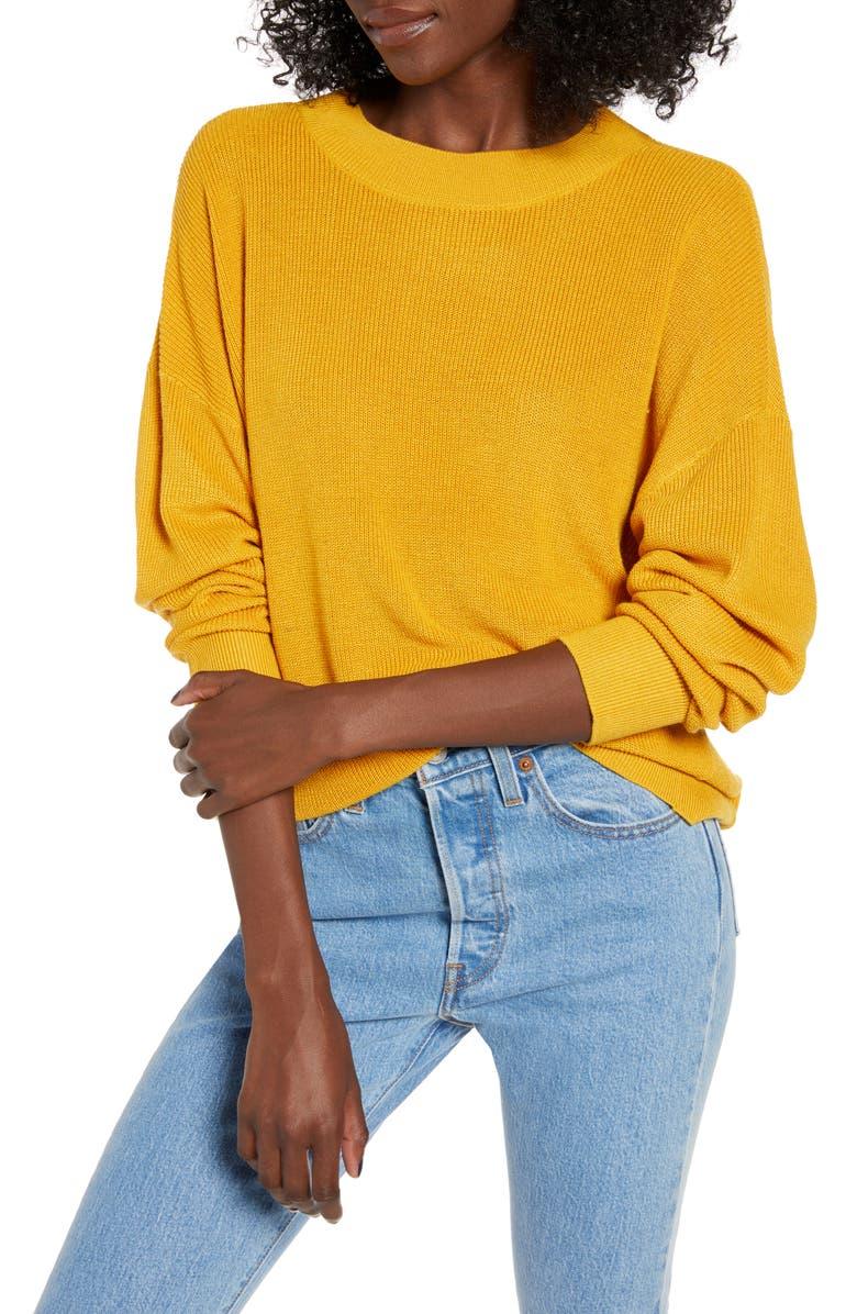BP. Lightweight Sweater, Main, color, YELLOW TREASURE