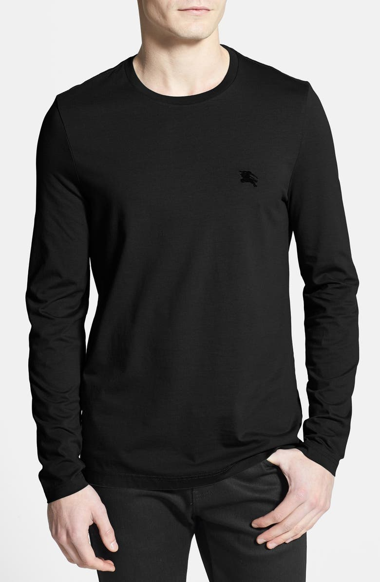 BURBERRY Brit Newing Long Sleeve T-Shirt, Main, color, 001