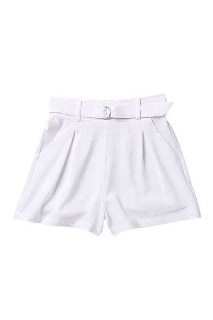 Image of Abound Belted High Waist Pleated Shorts