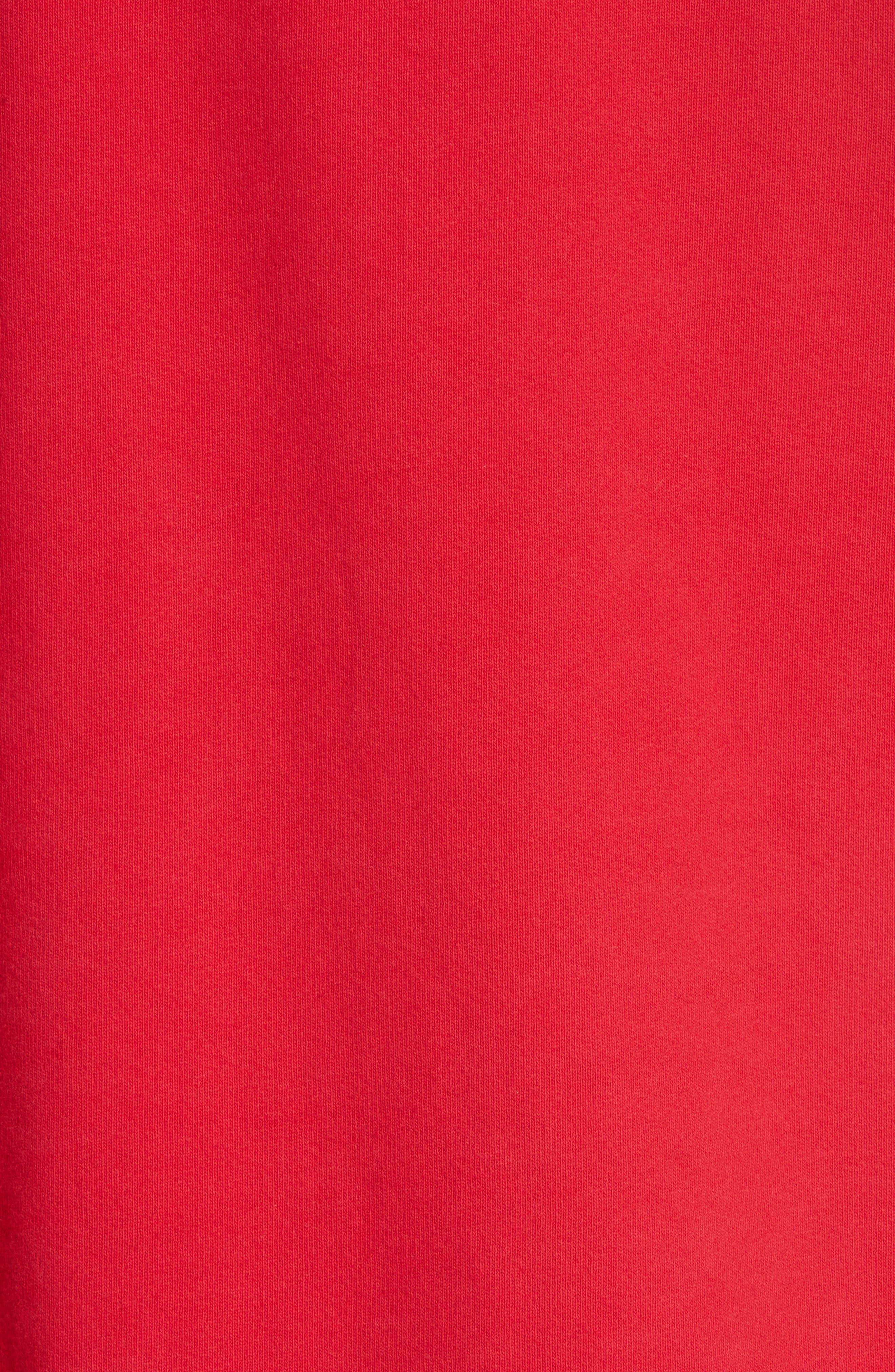,                             Last Stop Logo Hoodie,                             Alternate thumbnail 5, color,                             RED