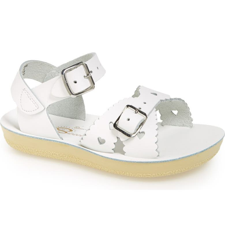 SALT WATER SANDALS BY HOY Sweetheart Sandal, Main, color, WHITE
