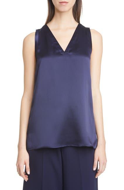 Image of Lafayette 148 New York Gretchen Reversible Silk Charmeuse Blouse