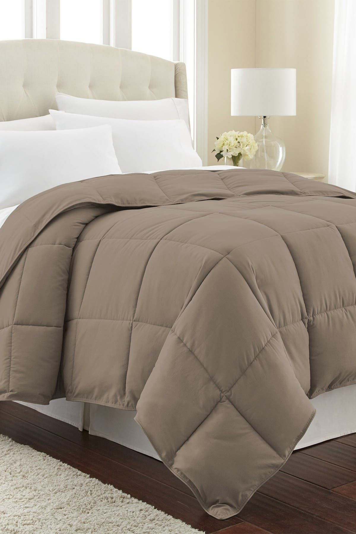 Image of SOUTHSHORE FINE LINENS King/California King Southshore Fine Linens Vilano Springs  Down Alternate Weight Comforter - Dark Taupe