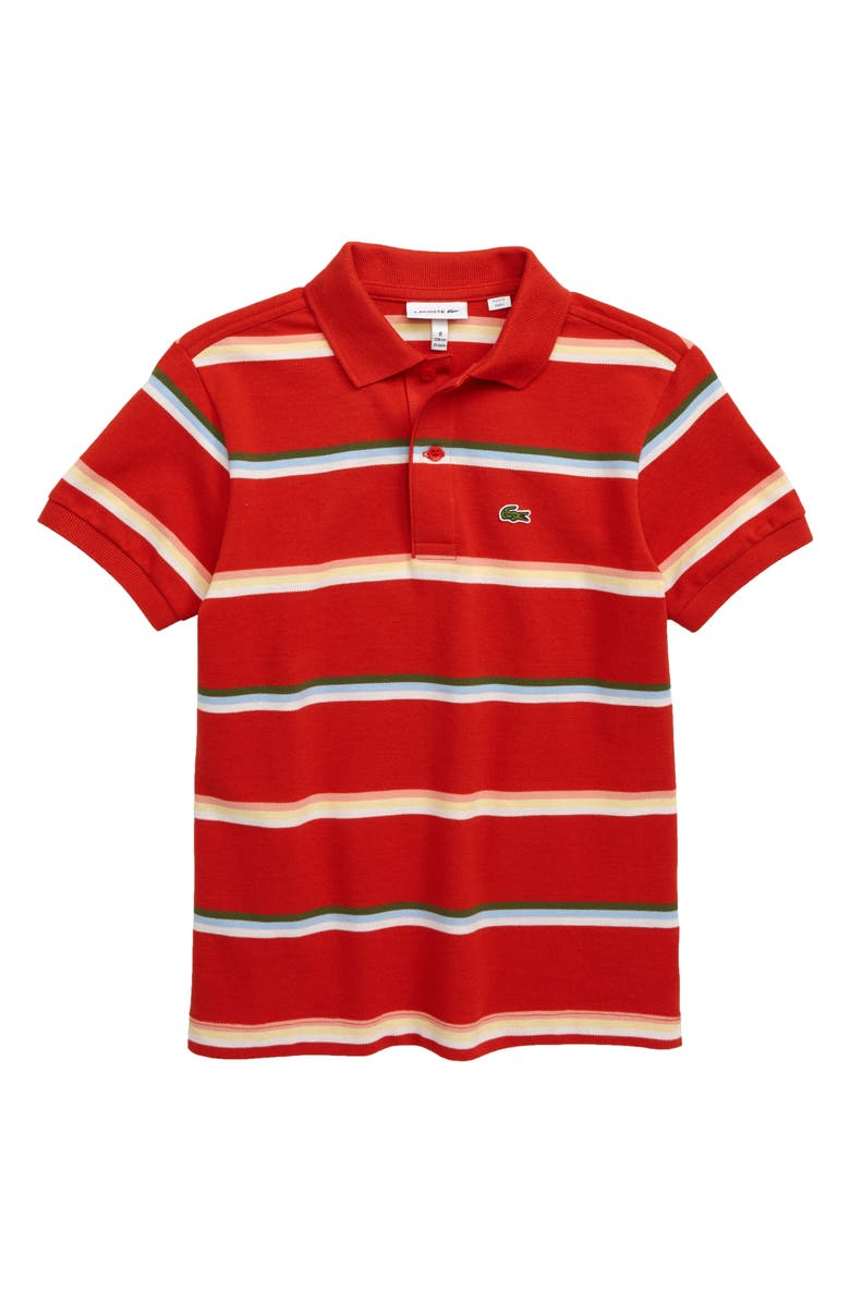Lacoste Summer Lover Stripe Piqu Polo Big Boys