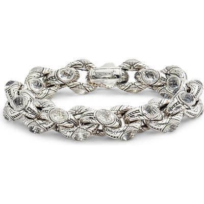 Konstantino Pythia Crystal Large Chain Link Bracelet