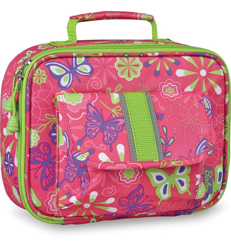 BIXBEE Butterfly Garden Water Resistant Lunchbox, Main, color, PINK