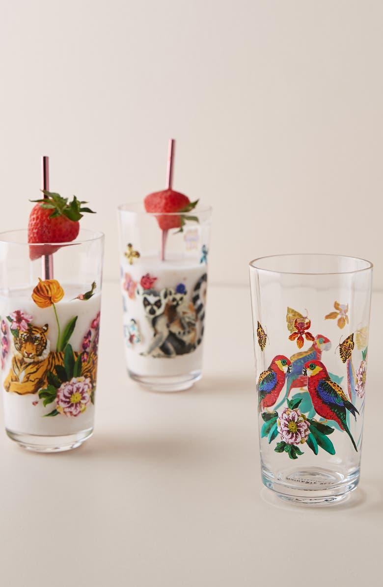 ANTHROPOLOGIE Nathalie Lete Juice Glass, Main, color, TIGER