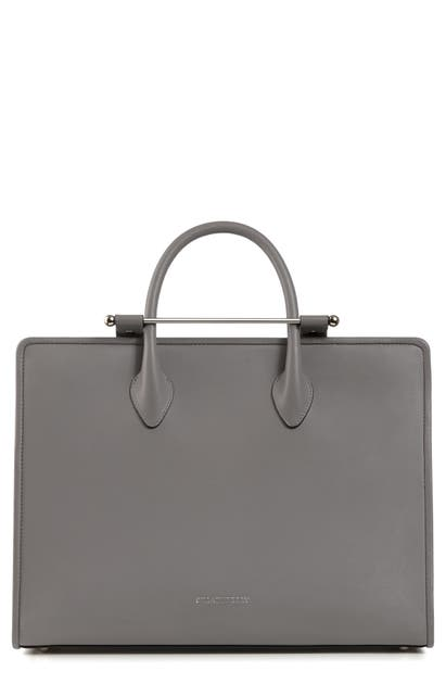 Strathberry Large Leather Tote In Slate