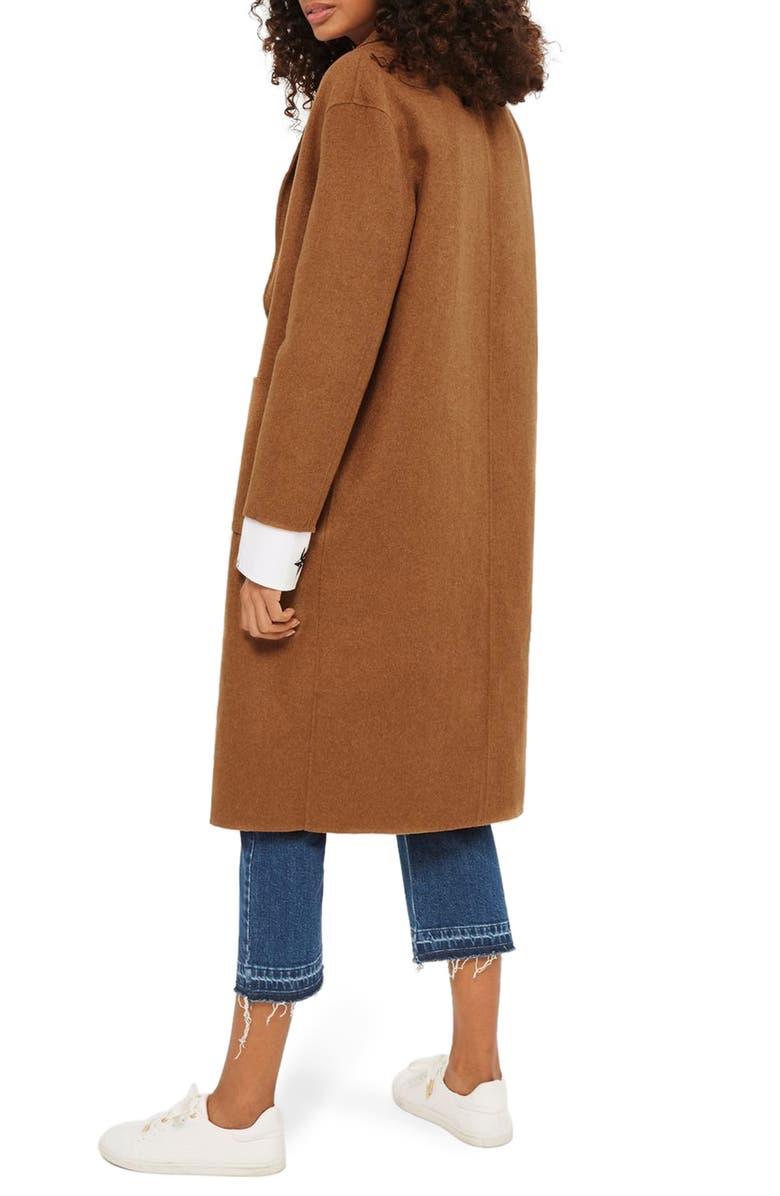 TOPSHOP Long Coat, Main, color, 252