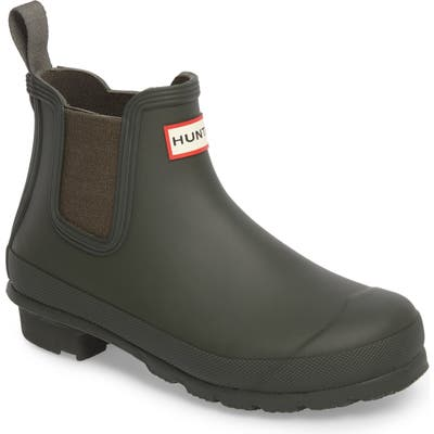 Hunter Original Waterproof Chelsea Rain Boot, Green