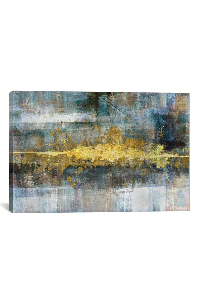 ICANVAS Frequency by Conrad Knutsen Giclée Print Canvas Art, Main, color, GOLD/ WHITE/ GRAY/ BLUE