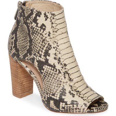 Charles By Charles David Fable Cutout Open Toe Bootie, Beige