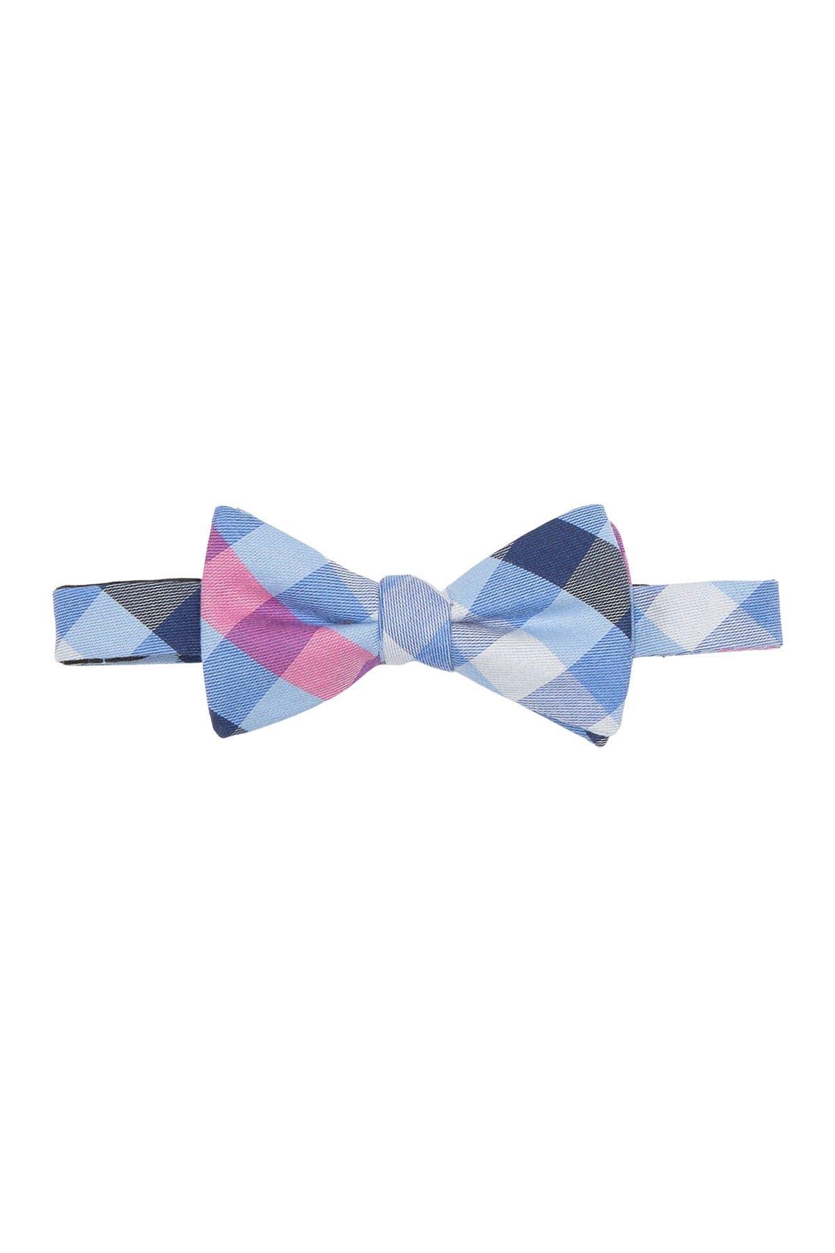 Image of Tommy Hilfiger Preppy Plaid Print Bow Tie