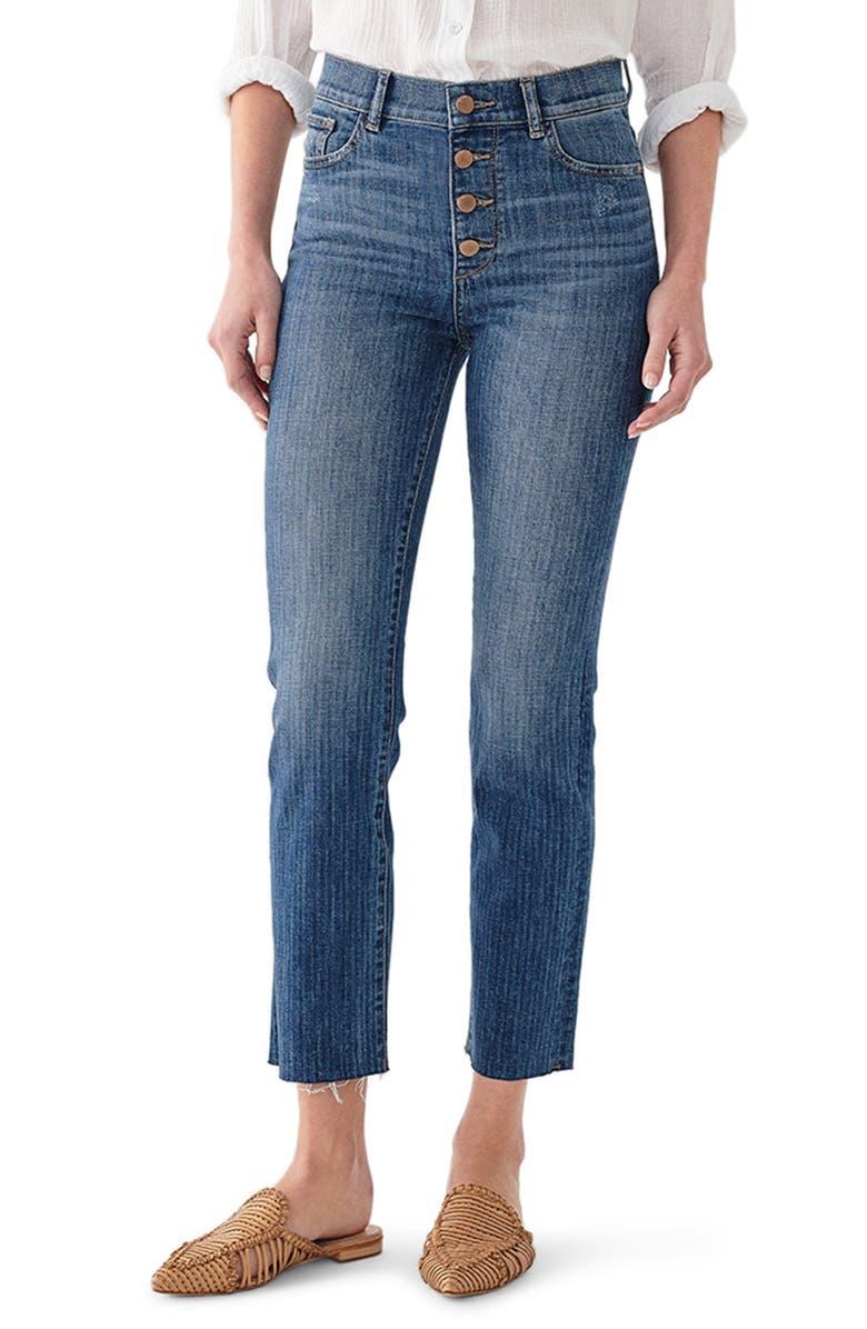 DL1961 DL 1961 Mara Instasculpt High Waist Ankle Straight Leg Jeans, Main, color, BARDOT