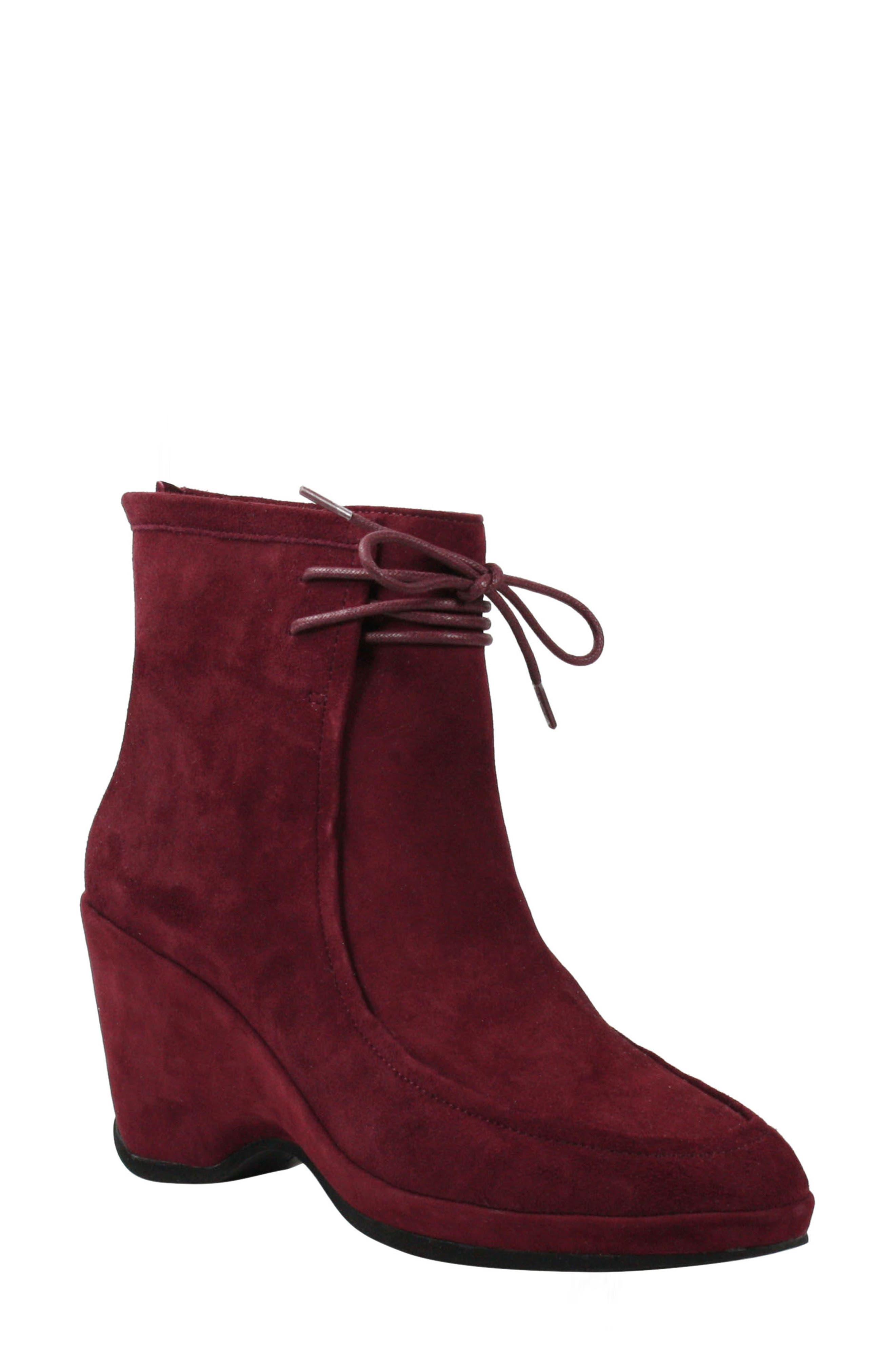 1950s Style Shoes | Heels, Flats, Saddle Shoes Womens LAmour Des Pieds Olesia Boot Size 9.5 M - Burgundy $129.89 AT vintagedancer.com