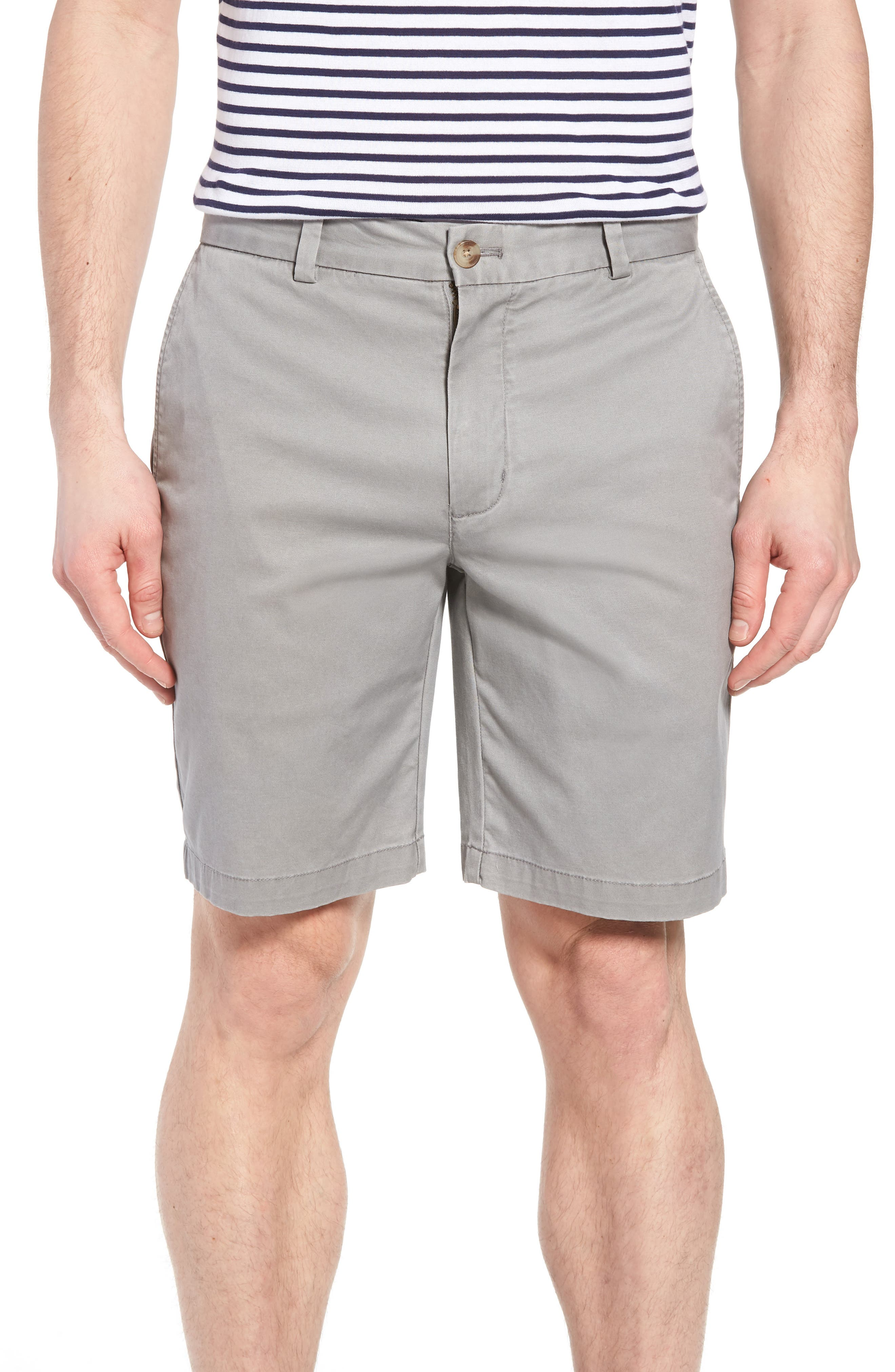 9 Inch Stretch Breaker Shorts, Main, color, ANCHOR GREY