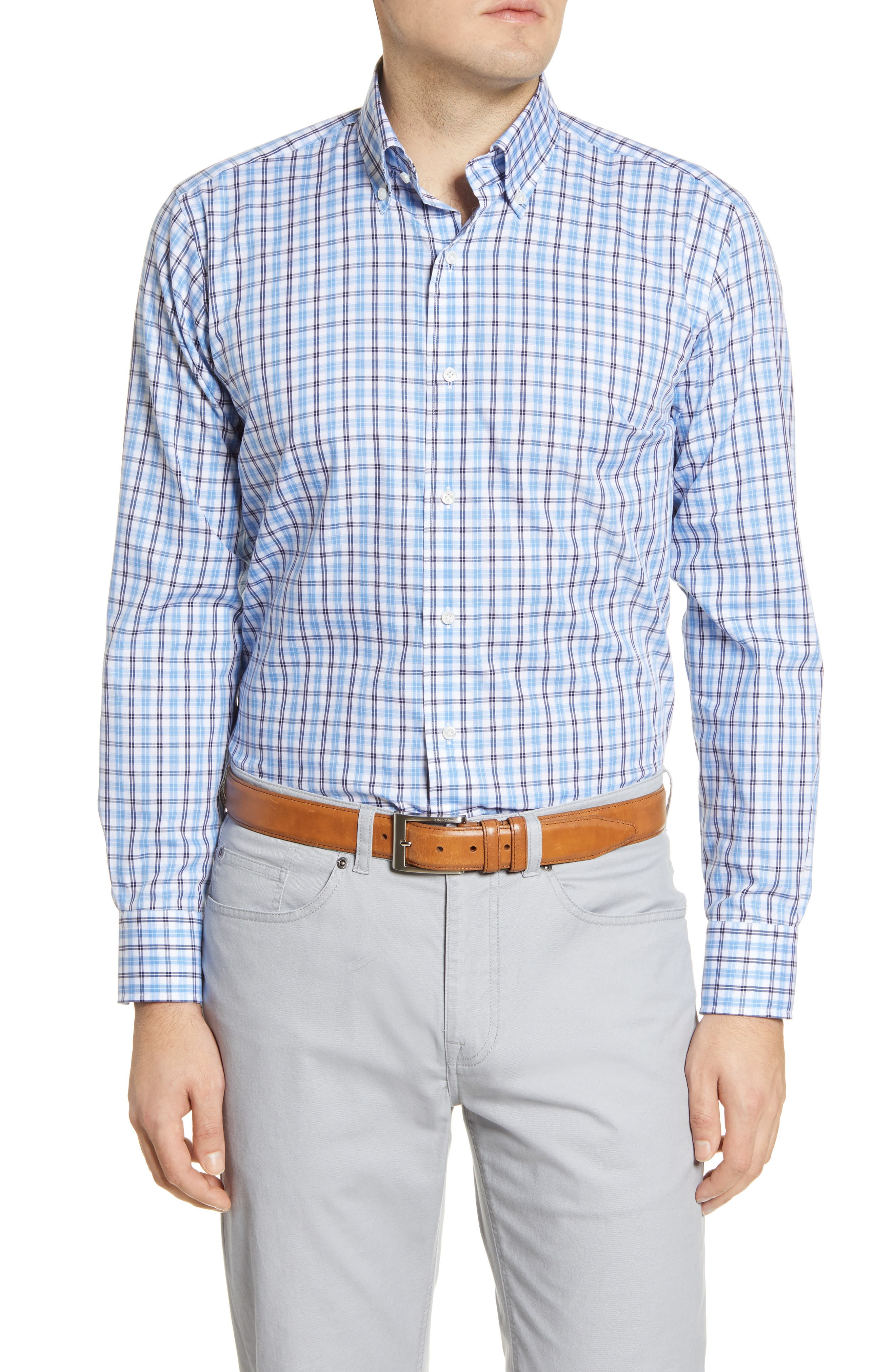 Image of Peter Millar Concorde Tailored Fit Check Button-Down Shirt