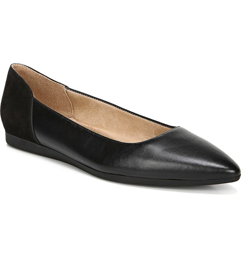 NATURALIZER Rayna Flat, Main, color, BLACK LEATHER