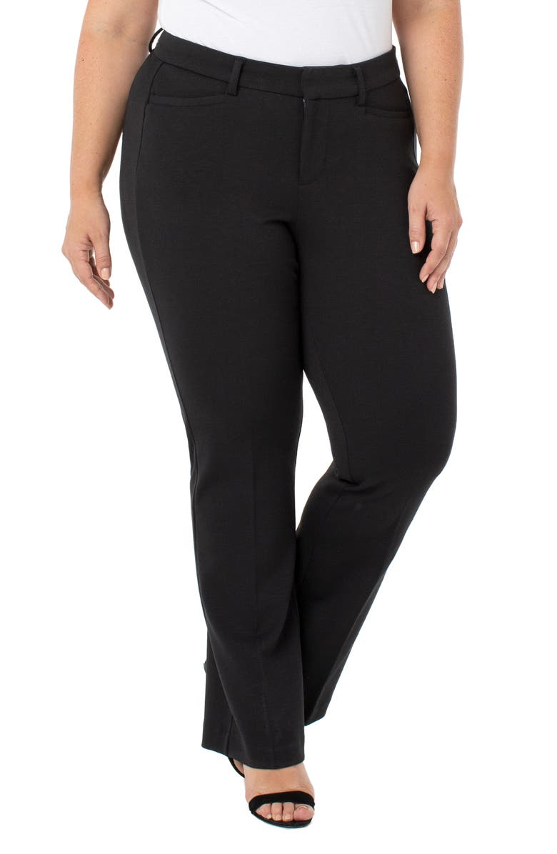 LIVERPOOL Bootcut Trousers, Main, color, BLACK