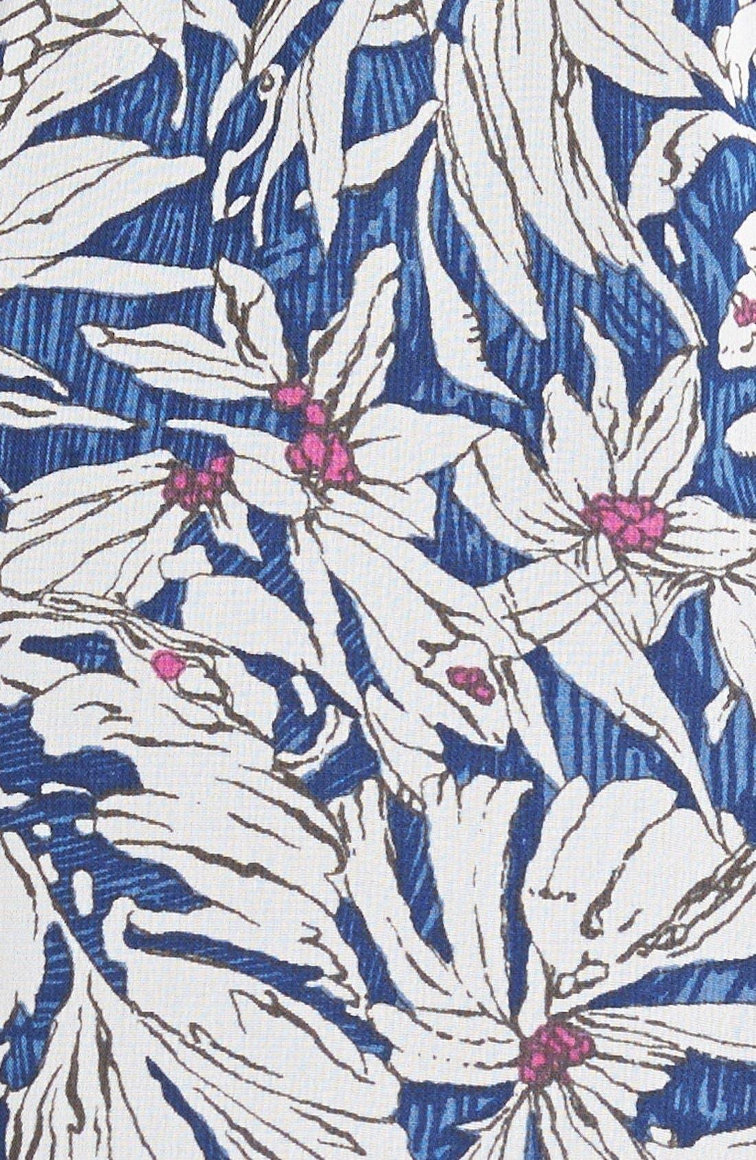 ,                             Lace Trim Floral Print Shorts,                             Alternate thumbnail 21, color,                             402