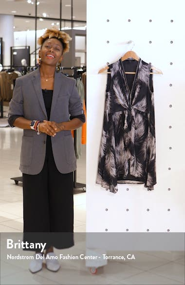 Jayda Feathers Zip Front Dress, sales video thumbnail