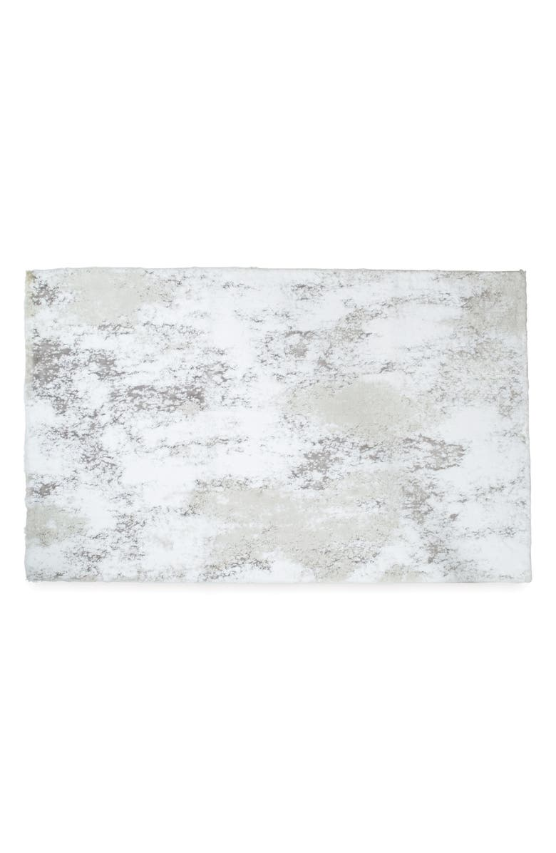 MICHAEL ARAM Orchid Bath Rug, Main, color, GREY