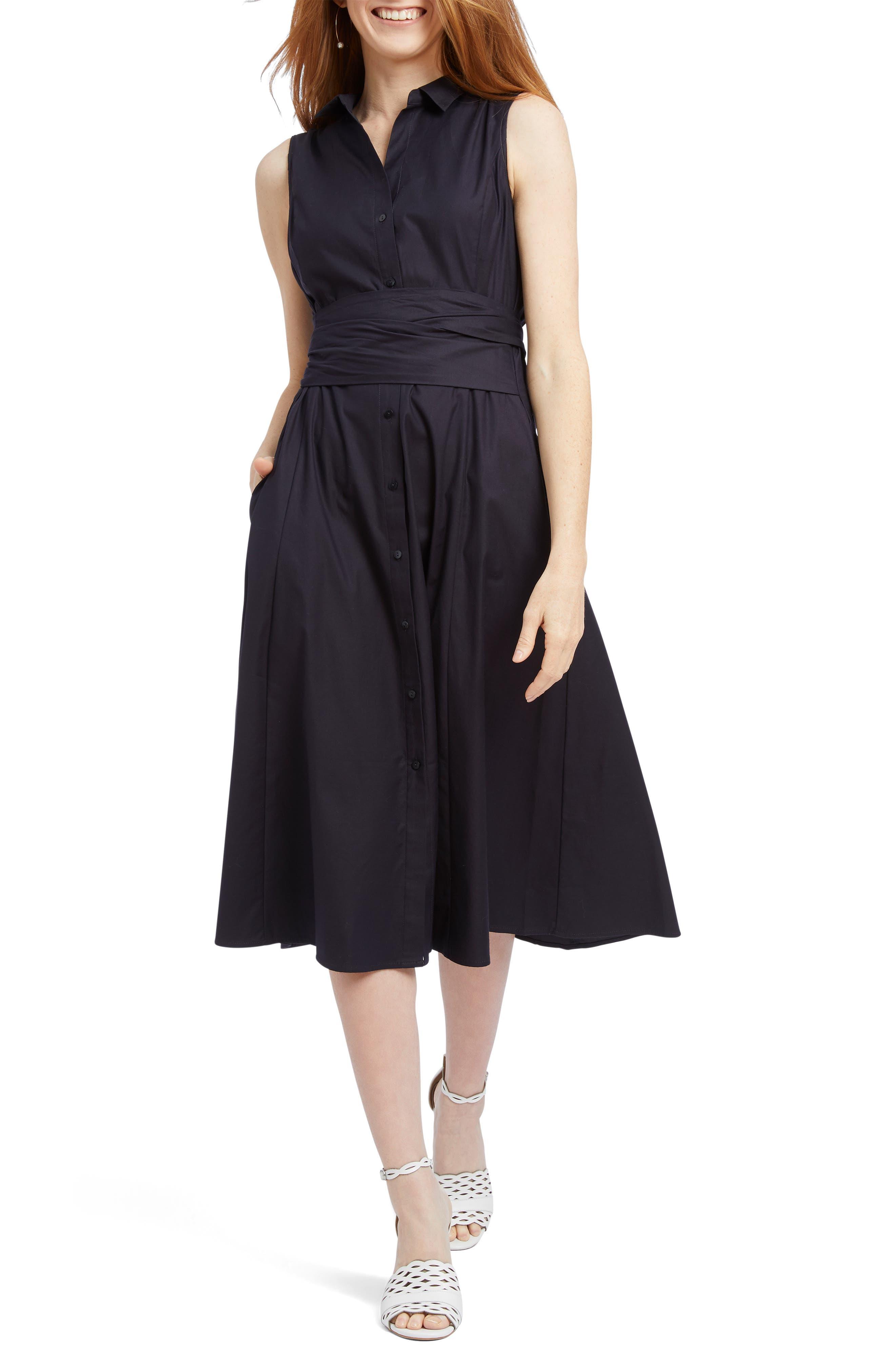 Nic+Zoe Santa Monica Sleeveless A-Line Dress, Blue