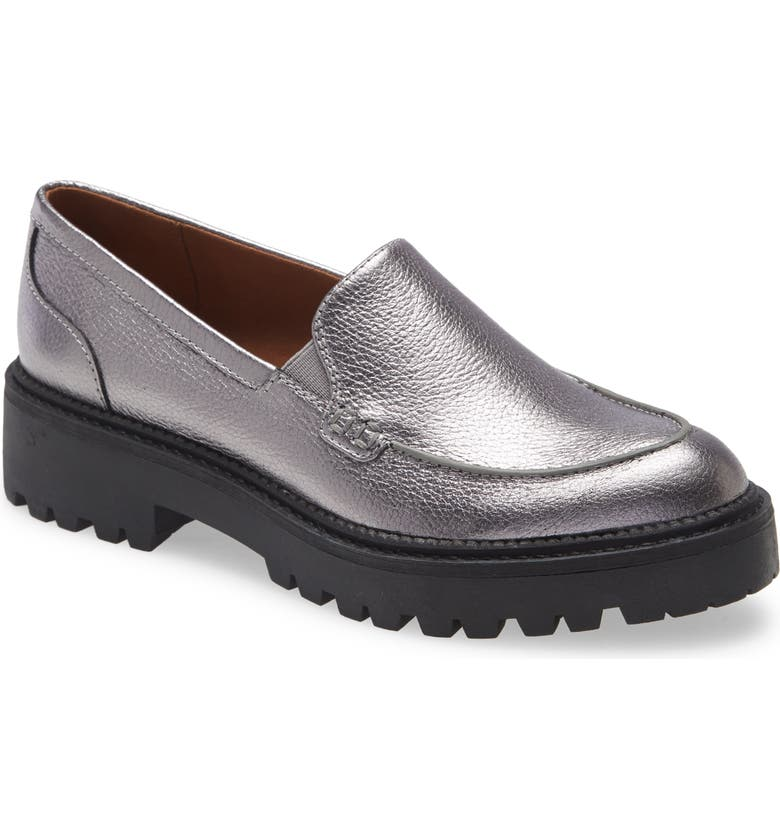 CASLON<SUP>®</SUP> Millany Loafer, Main, color, PEWTER METALLIC